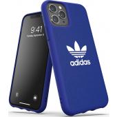 Husa TPU-Textil Adidas Moulded CANVAS pentru Apple iPhone 11 Pro, Bleumarin