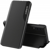 Husa Piele OEM Eco Leather View pentru Samsung Galaxy A32 5G A326, cu suport, Neagra