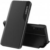 Husa Piele OEM Eco Leather View pentru Samsung Galaxy A72 4G/ Samsung A72 5G A725, cu suport, Neagra