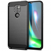 Husa TPU Forcell Carbon pentru Motorola Moto G9 Play, Neagra