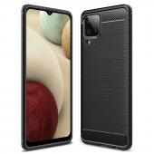 Husa TPU Forcell Carbon pentru Samsung Galaxy A12 A125, Neagra