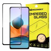 Folie Protectie Ecran WZK pentru Xiaomi Redmi Note 10 Pro, Sticla securizata, Full Face, Full Glue, Neagra