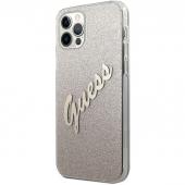 Husa Plastic - TPU Guess Vintage pentru Apple iPhone 12 Pro Max, Aurie GUHCP12LPCUGLSGO
