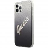 Husa Plastic - TPU Guess Vintage pentru Apple iPhone 12 / Apple iPhone 12 Pro, Neagra GUHCP12MPCUGLSBK