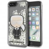 Husa Plastic - TPU Karl Lagerfeld Liquid Glitter Iconic pentru Apple iPhone 7 Plus / Apple iPhone 8 Plus, Transparenta KLHCI8LGLGIRKL