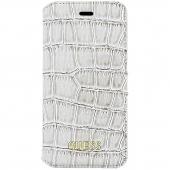 Husa Plastic - Piele Guess Shiny Croco pentru Apple iPhone 6 / Apple iPhone 6s, Bej GUFLBKP6SCOBE