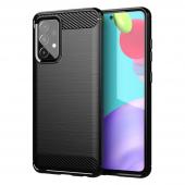 Husa TPU OEM Carbon pentru Samsung Galaxy A72 4G, Neagra