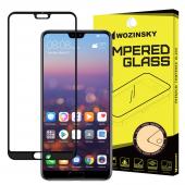 Folie Protectie Ecran WZK pentru Huawei P20 Pro, Sticla securizata, Full Face, Full Glue, Neagra