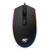 Mouse Wired USB HAVIT GAMENOTE MS1003, Gaming, RGB, Negru