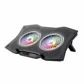 Cooling Pad Laptop HAVIT Gaming F2072, Pentru Laptop-uri max 17 inch, RGB, Negru