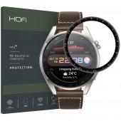Folie Protectie Ecran HOFI pentru Huawei Watch 3 Pro 48 mm, Sticla Flexibila, Hybrid, 0.3mm, 7H, Neagra
