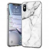 Husa TPU WZK Marble MP pentru Samsung Galaxy A52 A525 / Samsung Galaxy A52 5G, Alba
