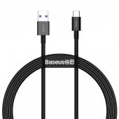 Cablu Date si Incarcare USB la USB Type-C Baseus Superior, 1 m, 66W, Negru CATYS-01