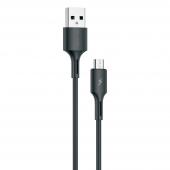 Cablu Date si Incarcare USB la MicroUSB WK-Design YouPin, 1 m, 3A, Negru WDC-136m