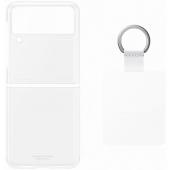 Husa TPU Samsung Galaxy Z Flip3 5G, Ring, Transparenta EF-QF711CTEGWW