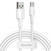 Cablu Date si Incarcare USB la USB Type-C Baseus, 5A, 2m, Alb CATSW-G02