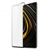 Folie Protectie Ecran DUX DUCIS pentru Xiaomi Poco M3, Sticla securizata, Full Face, Full Glue, 9D, Neagra