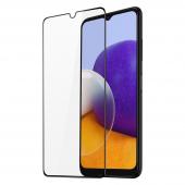 Folie Protectie Ecran DUX DUCIS pentru Samsung Galaxy A22 5G, Sticla securizata, Full Face, Full Glue, 9D, Neagra