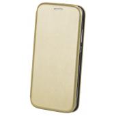 Husa Piele OEM Elegance pentru Samsung Galaxy A22 5G, Aurie