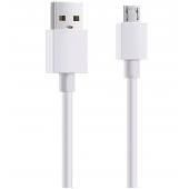 Cablu Date si Incarcare USB la MicroUSB EnviroBest EC8, 1 m, Alb