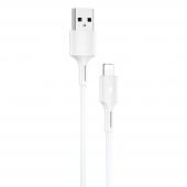 Cablu Date si Incarcare USB la Lightning WK-Design YouPin, 1 m, 3A, Alb WDC-136i