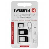 Adaptor SIM Swissten, 4 in 1, Negru