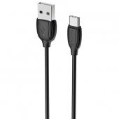 Cablu Date si Incarcare USB la USB Type-C Borofone Benefit BX19, 1 m, Negru