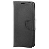 Husa Piele OEM Fancy pentru Samsung Galaxy A22 5G, Neagra