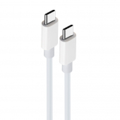 Cablu Date si Incarcare USB Type-C la USB Type-C MaXlife MXUC-05, 2 m, Alb