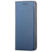 Husa Piele OEM Smart Magnet pentru Oppo A74, Bleumarin