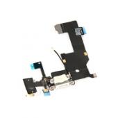 Banda cu conector incarcare / date audio si microfon Apple iPhone 5 alb
