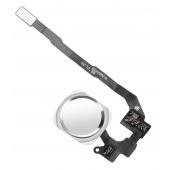 Ansamblu Buton Meniu Apple iPhone 5s, Cu banda, Alb Argintiu