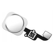 Ansamblu Buton Meniu Apple iPhone 6, Cu banda, Alb Argintiu