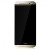 Display cu touchscreen si rama HTC One (M8) auriu