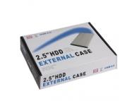 Carcasa aluminiu HDD extern 2.5 SATA-USB argintie