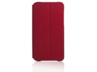 Husa piele BlackBerry Z10 Flip rosie Blister Originala