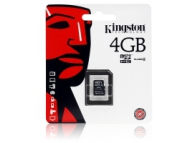 Card memorie Kingston MicroSDHC 4Gb fara adaptor Blister