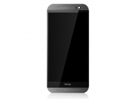 Display cu touchscreen si rama HTC One (M8) Gri