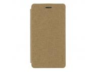 Husa piele Samsung Galaxy J1 J100 Pudini Book aurie Blister