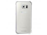 Husa plastic Samsung Galaxy S6 edge G925 Clear Cover EF-QG925BSEGWW argintie Blister Originala