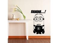 Sticker decorativ perete Minion Banana