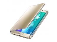 Husa plastic Samsung Galaxy S6 edge+ G928 Clear View EF-ZG928CF aurie Blister Originala