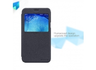 Husa piele Samsung Galaxy J5 J500 Nillkin Sparkle View Gri Blister Originala