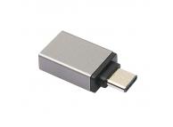 Adaptor OTG USB Type-C - USB 3.0 Aluminum Gri