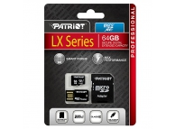 Card memorie Patriot MicroSDXC 64Gb Clasa 10 UHS-I si cititor card Blister