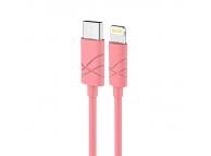 Cablu de date Apple iPhone 5 Usams U-Gee roz Blister Original