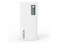 Baterie externa Powerbank 13000mA Doca D566 alba Blister Originala