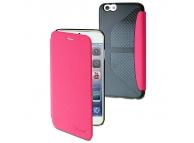 Husa Apple iPhone 6 Muvit MUEAF0127 Easy Folio Card roz Blister Originala