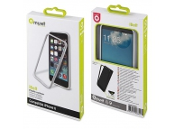 Rama silicon TPU Apple iPhone 6 Muvit MUBKC0808 iBelt alba Blister Originala