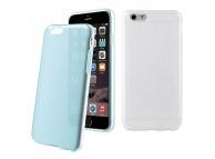 Husa silicon TPU Apple iPhone 6 Muvit MUSKI0469 Colorchanging albastra transparenta Blister Originala